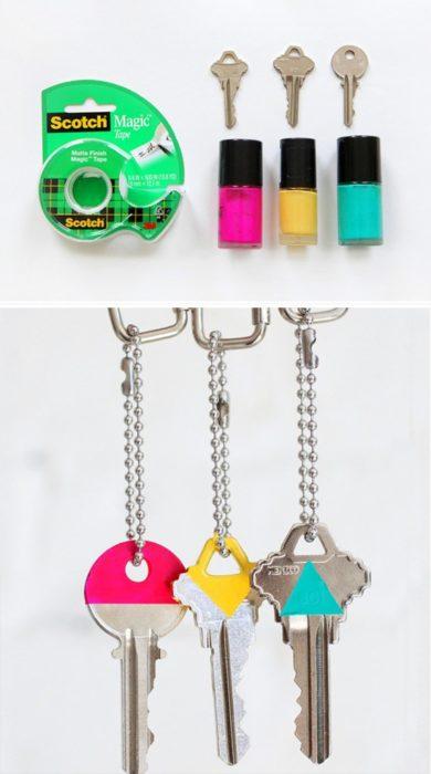 llave colores esmalte