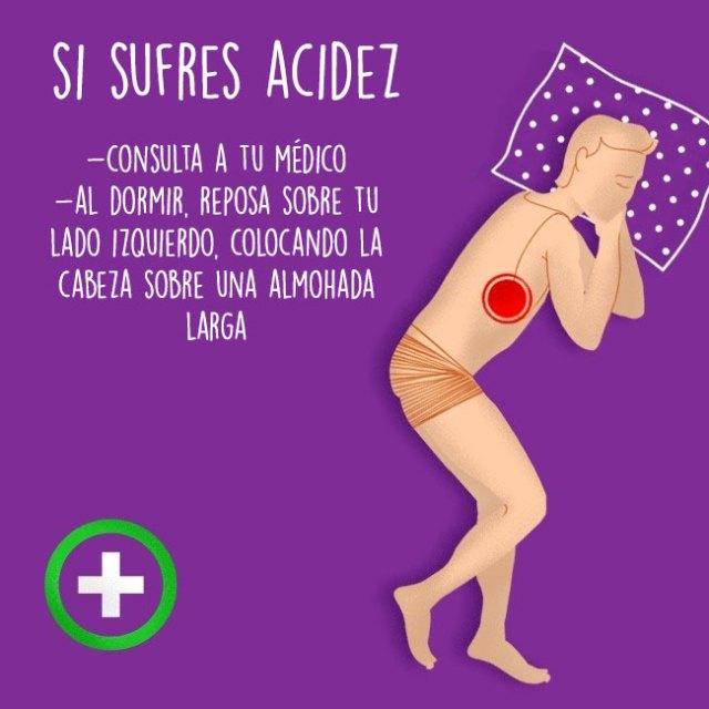 acidez al dormir estómago
