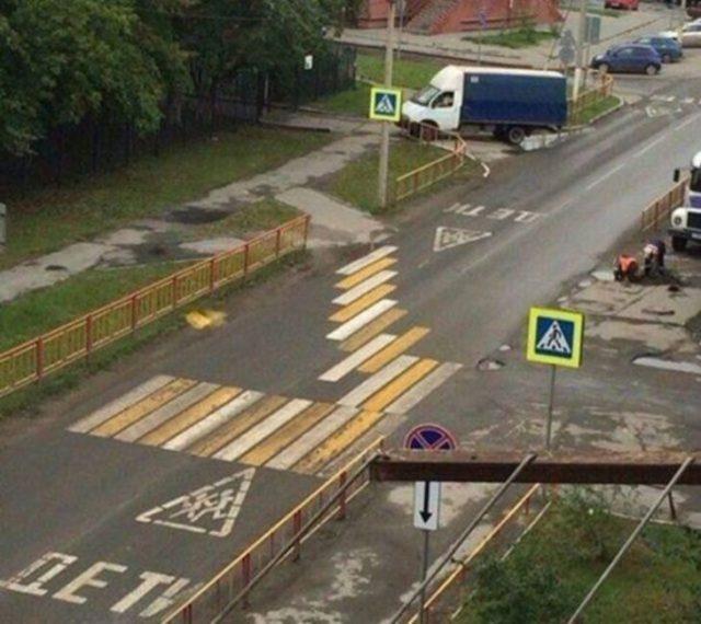 paso peatonal chueco extraño fail
