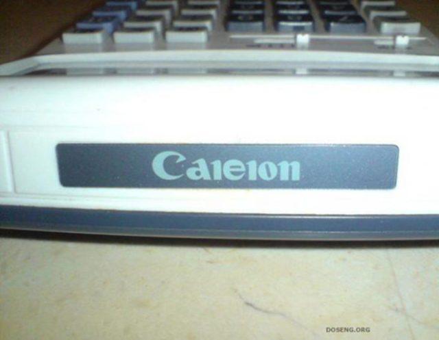 Calculadora imitación de Canon