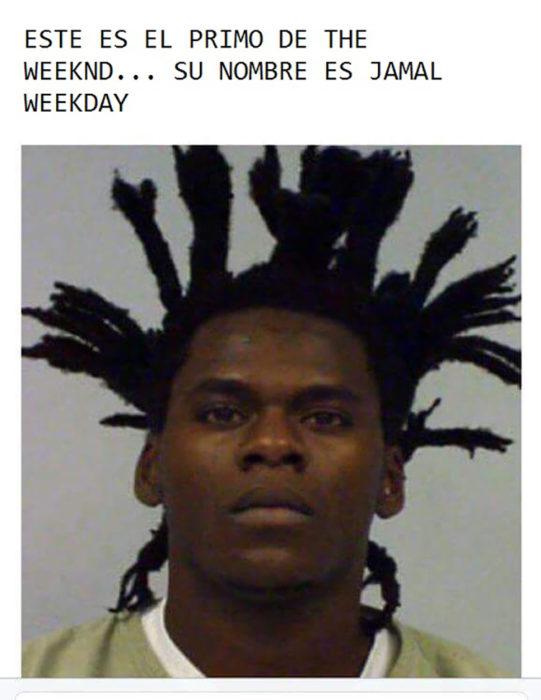 convicto que tiene un peinado parecido al de The weeknd
