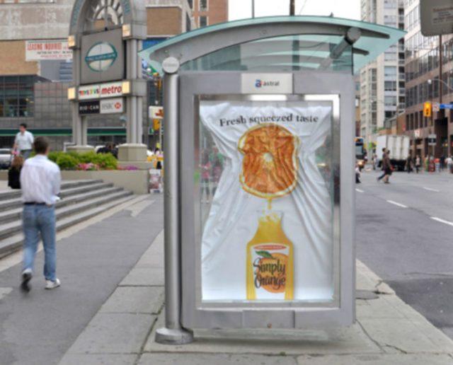 jugo de naranja publicidad creativa