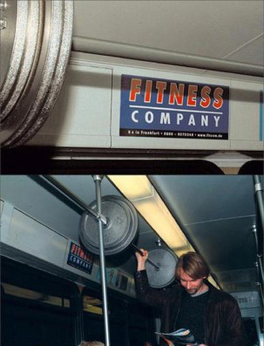 publicidad fitness en bus original