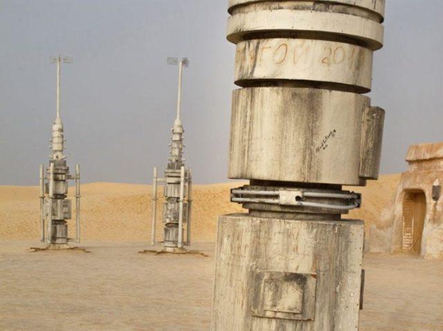 Túnez es el fondo para Tattoine en Star Wars set abandonado