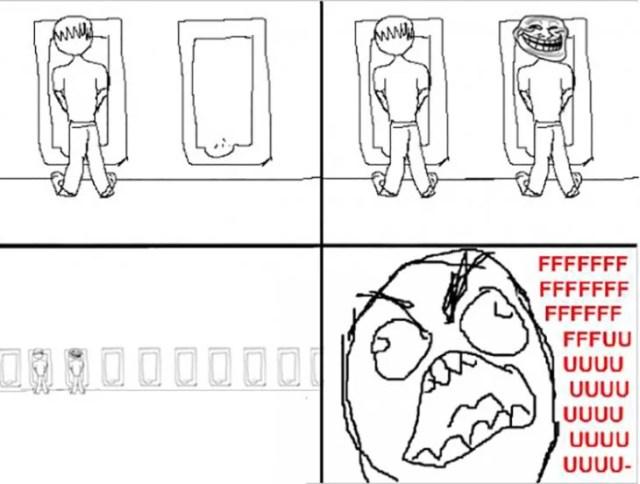 Situación incomoda en la que alguien más se coloca a tu lado al ir al baño