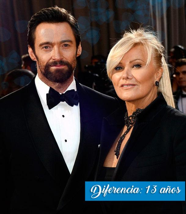 Hugh y esposa