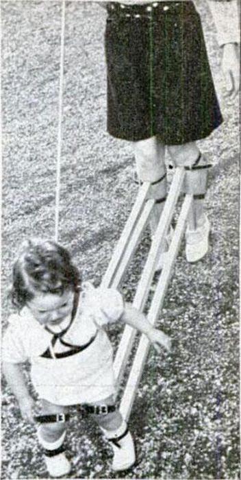 Cómo enseñaban a andar a los pequeños antes
