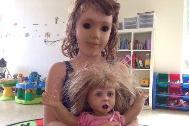 Face swap muñeca niña