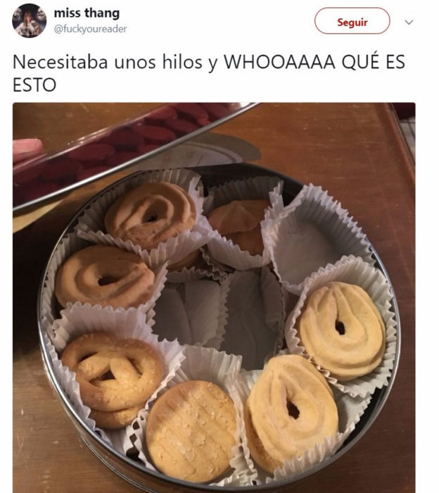 galletas inopinadas tuit gracioso
