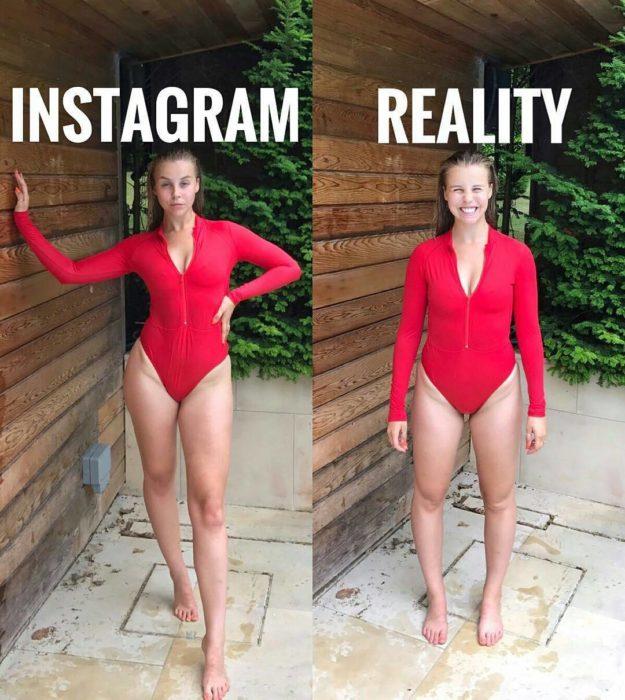 traje rojo expectativa realidad modelos instagram