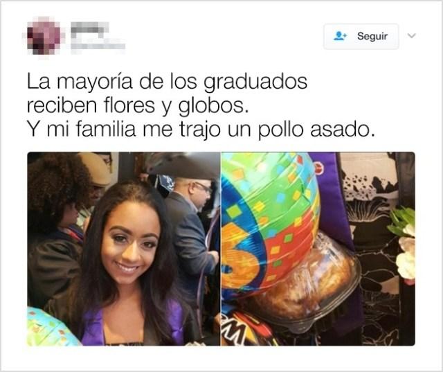 graduación pollo familia