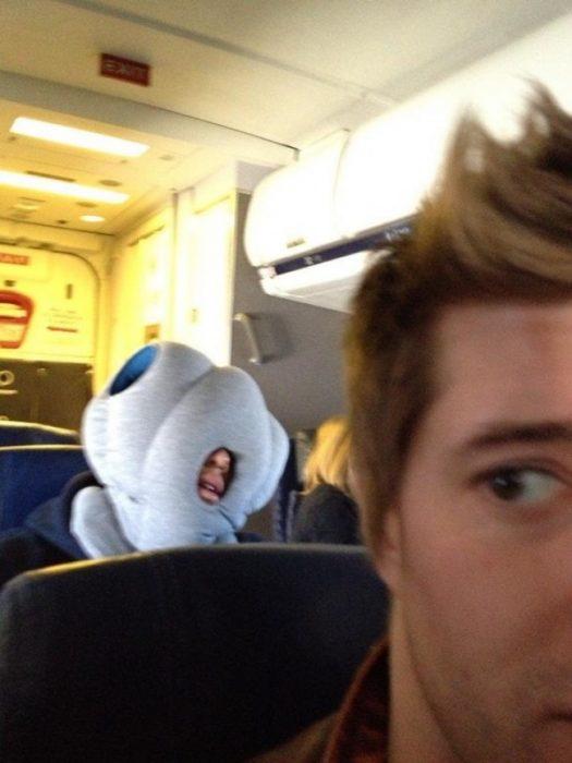 dormido avión