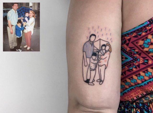 Tatuajes niñez - papás e hijos