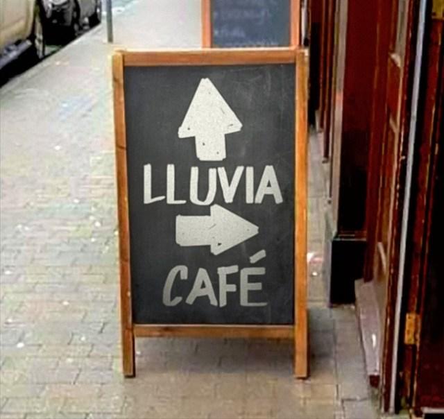 lluvia café publicidad