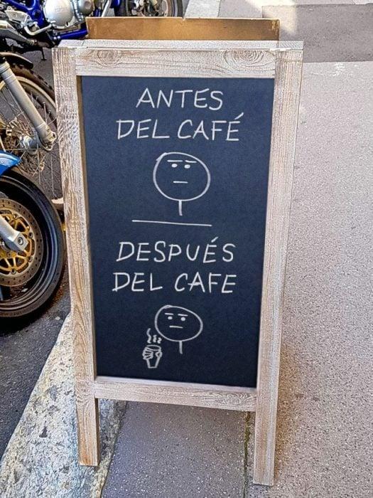 antes y después café