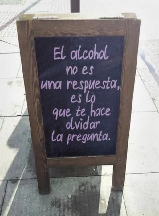 el alcohol no es una respuesta
