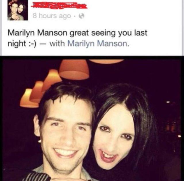 Marilyn Manson fotografía doble lo confunden