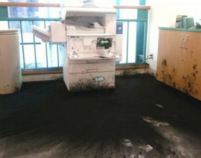explotó la tinta de impresora