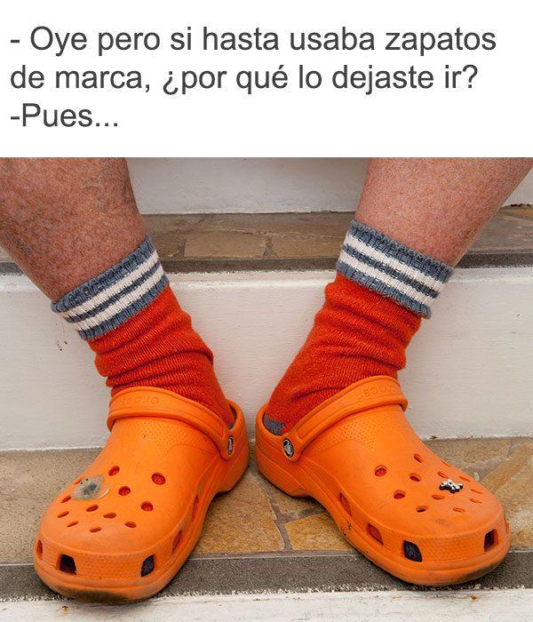 crocs nacos con calcetas