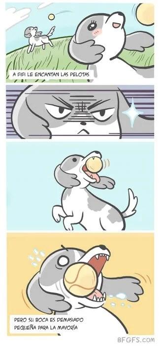 perro pelota ilustración