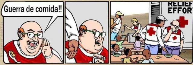 ilustración guerra de comida