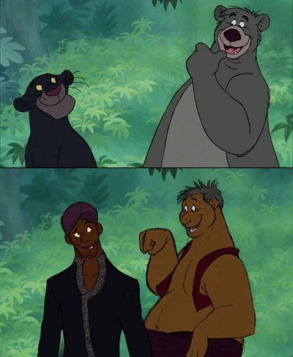 Baloo y Bagheera