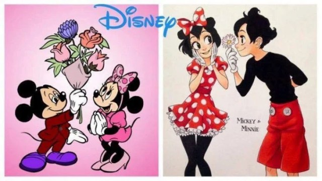 Minnie y Mikey mouse