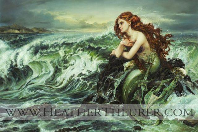 sirenita pintura heather