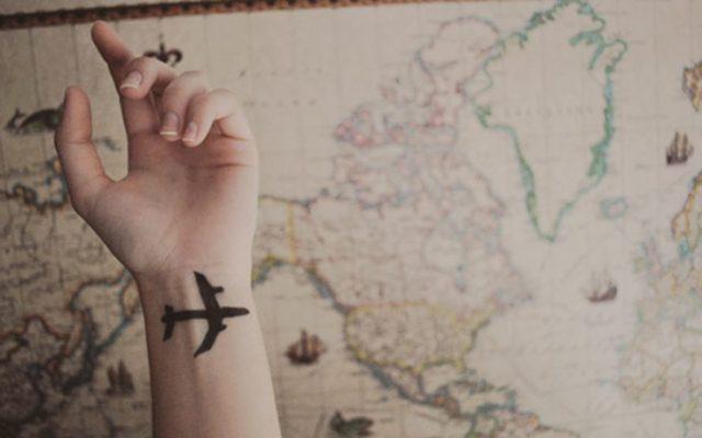avión mapa atrás