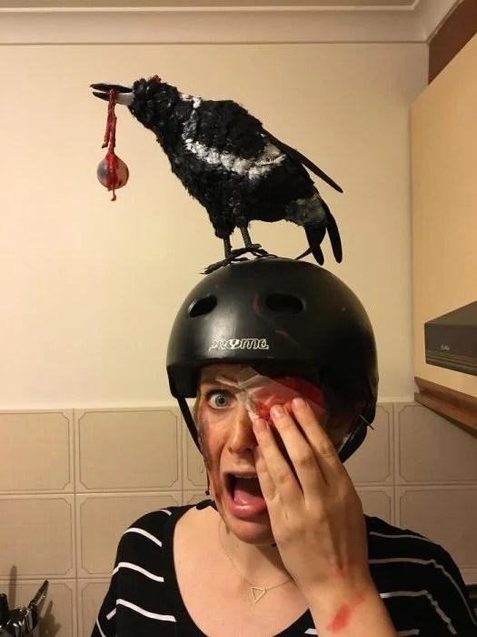 Ciclista lesionada