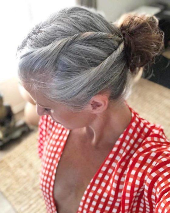 peinado con canas