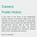 Inec Recruitment 2018/2019 | Application Registration Form