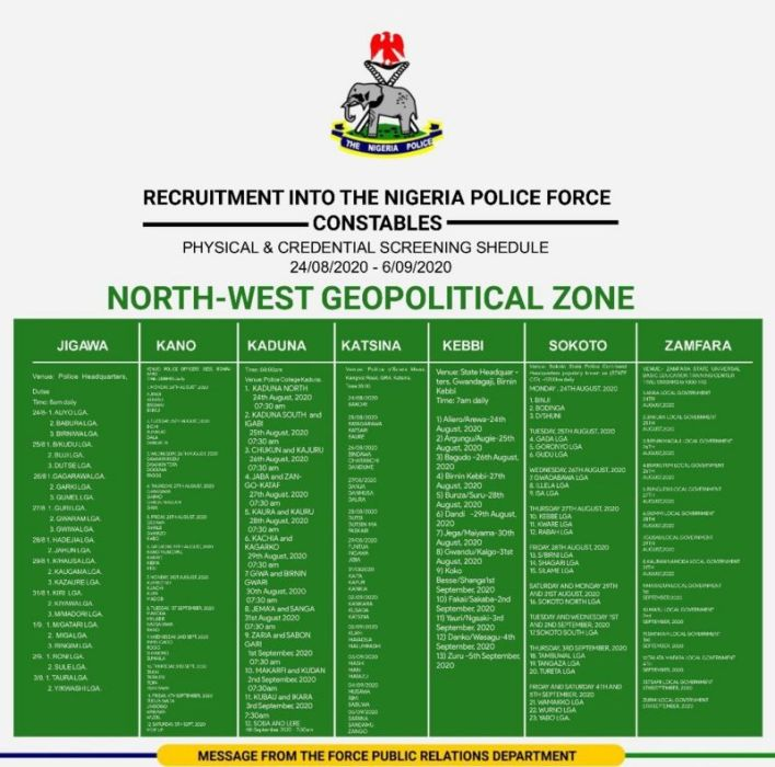 Nigeria Police Shortlisted Candidates 2020 - Download PDF List 5