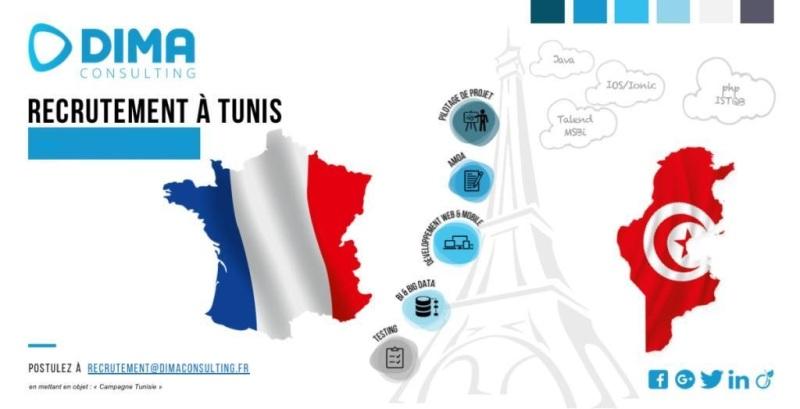 Team Dima Consulting // organise [des sessions de Recrutement] pour des poste d'emploi en FRANCE