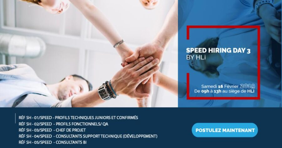 HLiTunisie  // organise son 3ème « Speed Hiring Day »