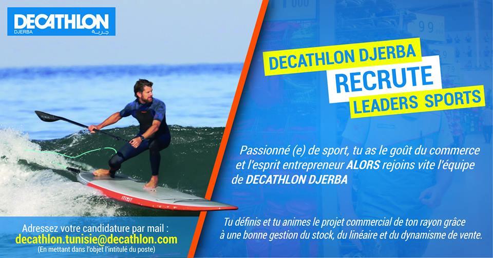 decathlon recrute offre d emploi n