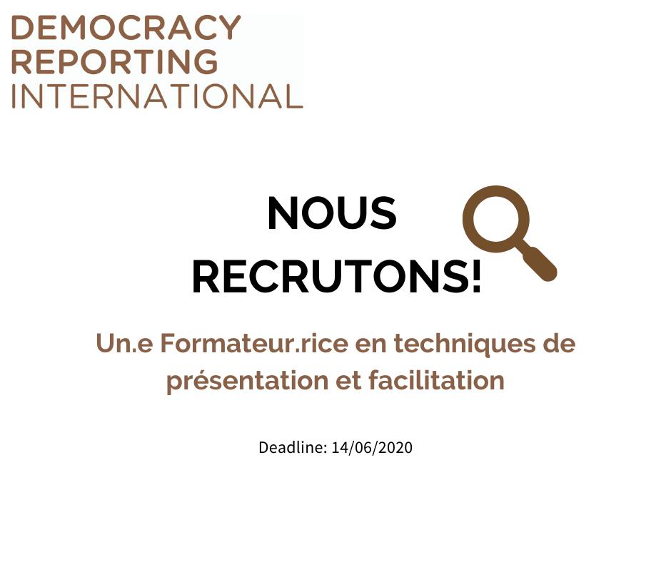 #DRI#Tunisie / recrute