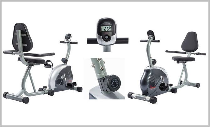 Sunny Health and Fitness Magnetic Recumbent Bike