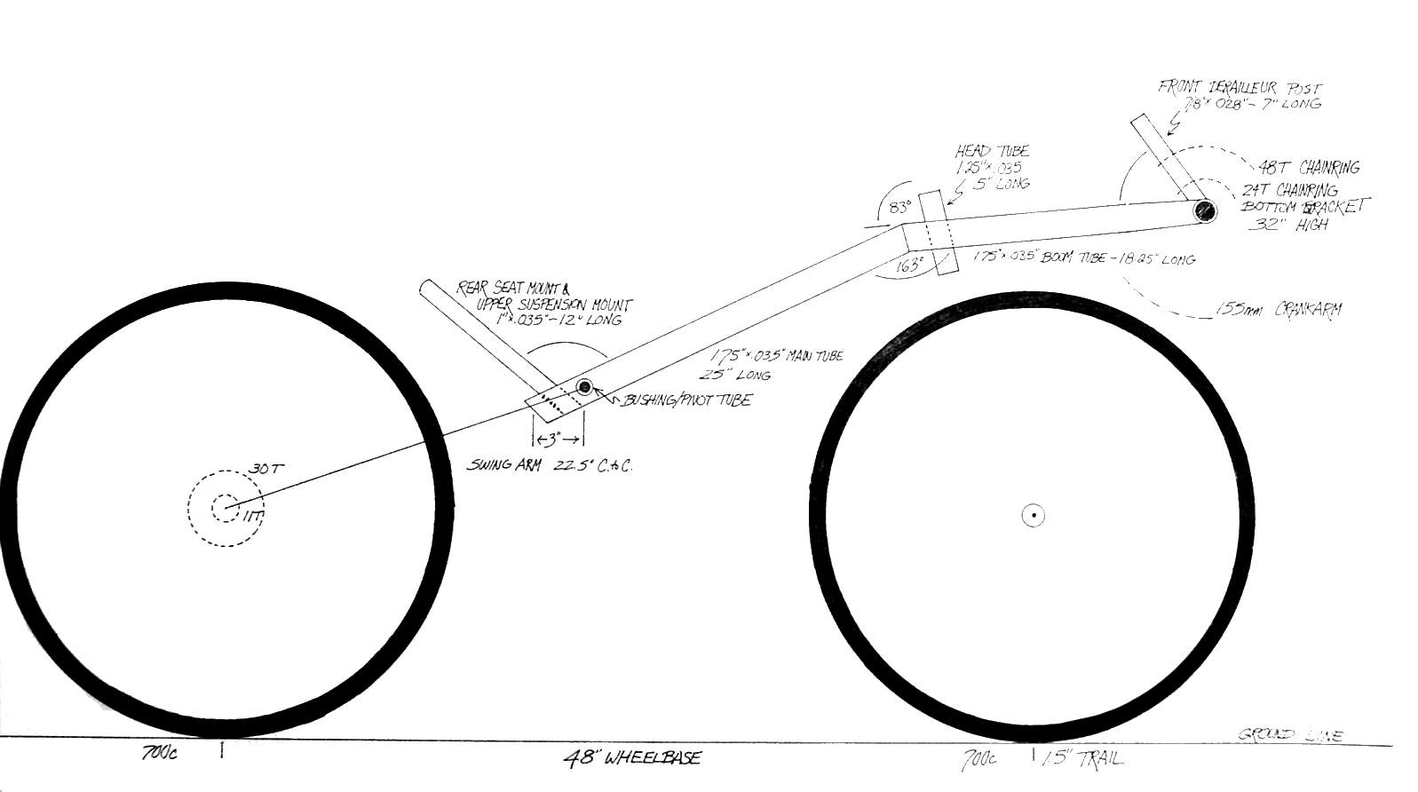 Recumbent Bicycle Building Plans