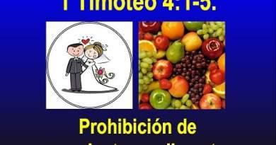 Prohibición de Casamientos y Alimentos