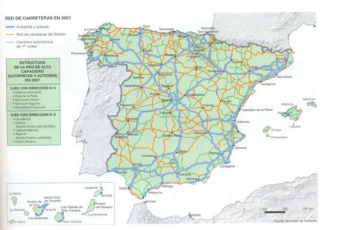 Mapa Carreteras España 2018.Mapa Carreteras Espana 2018 Mapa