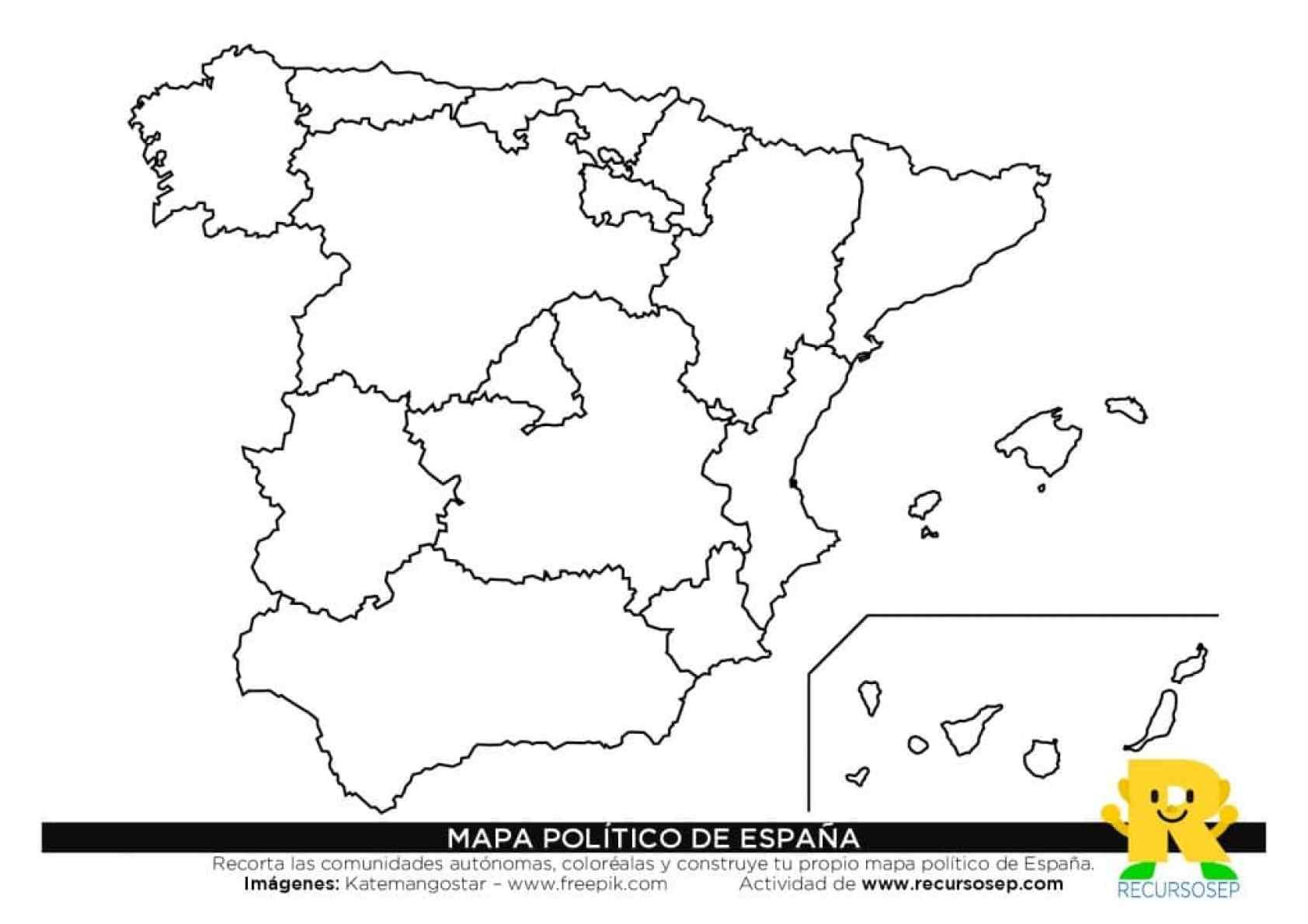 Construye Tu Propio Mapa Politico De Espana