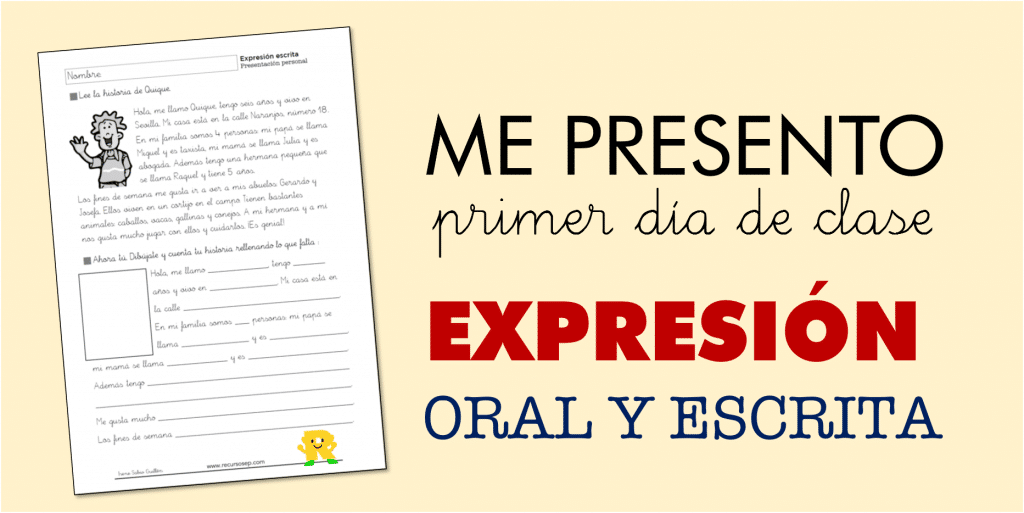 Presentación para el primer día de clase: expresión oral y escrita
