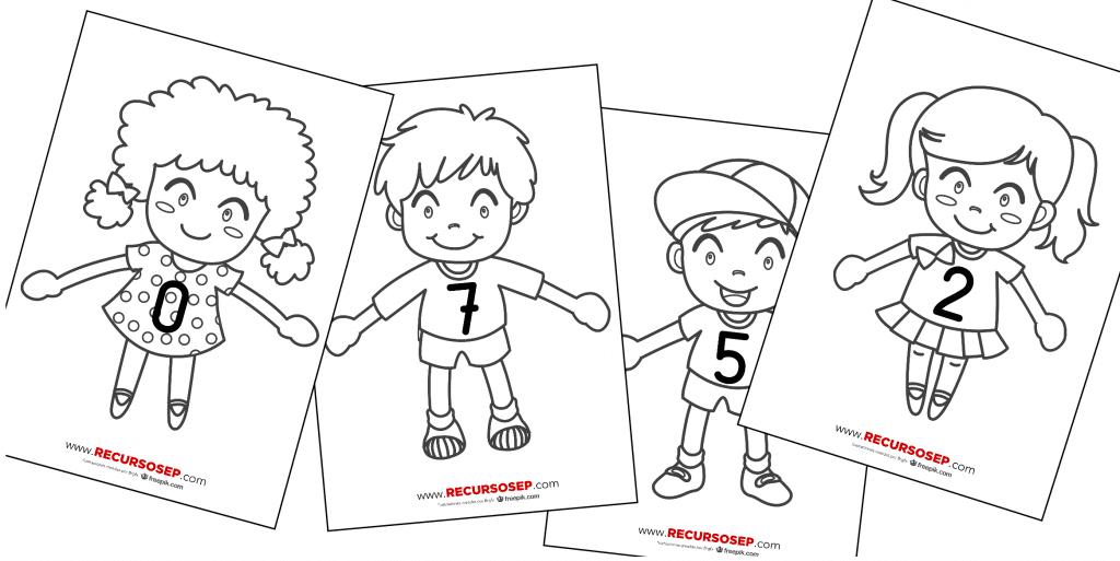 Amigos Del 10 Personajes Con Camisetas Numeradas Láminas