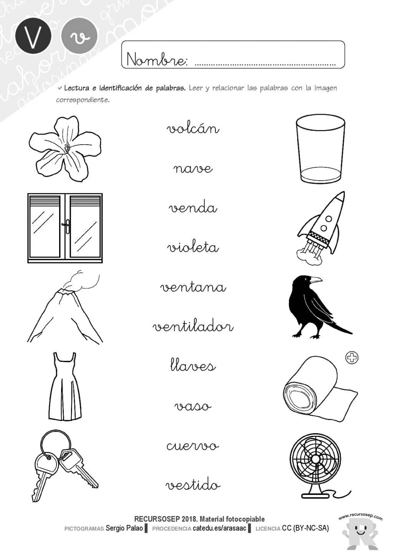 Cuadernillo Lectoescritura Letra V Recursosep Actividades 001