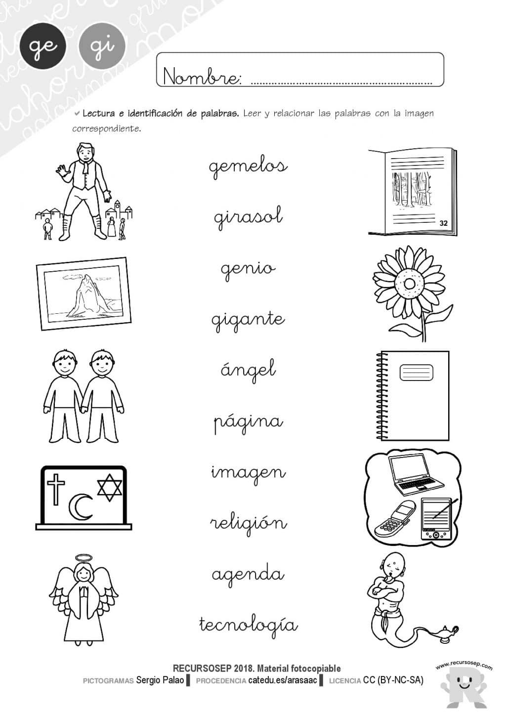 Worksheets Letra Ge Gi