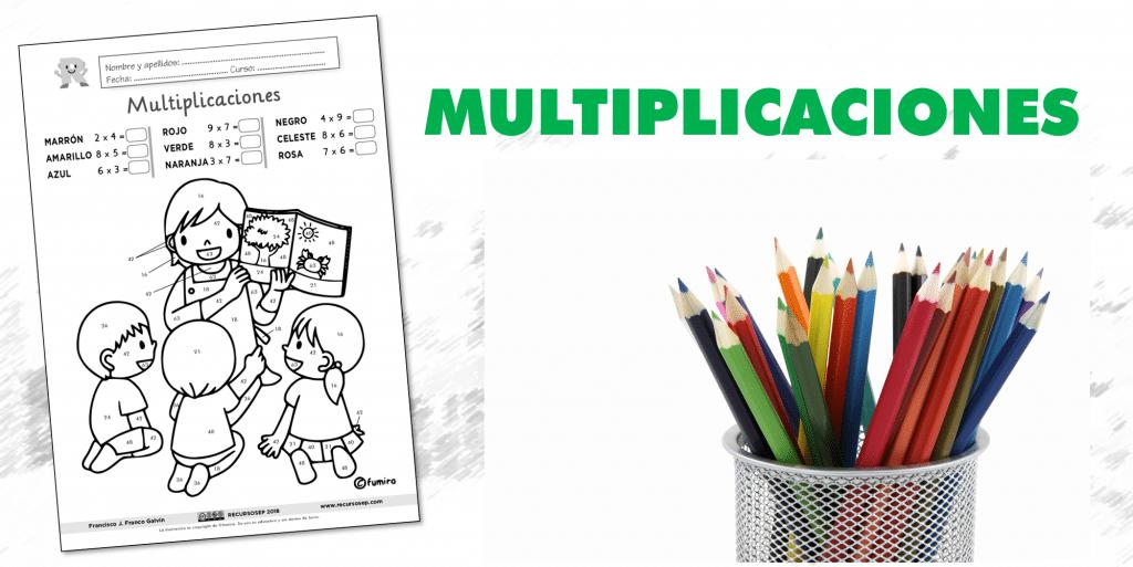 Tablas de multiplicar: DIBUJO PARA COLOREAR