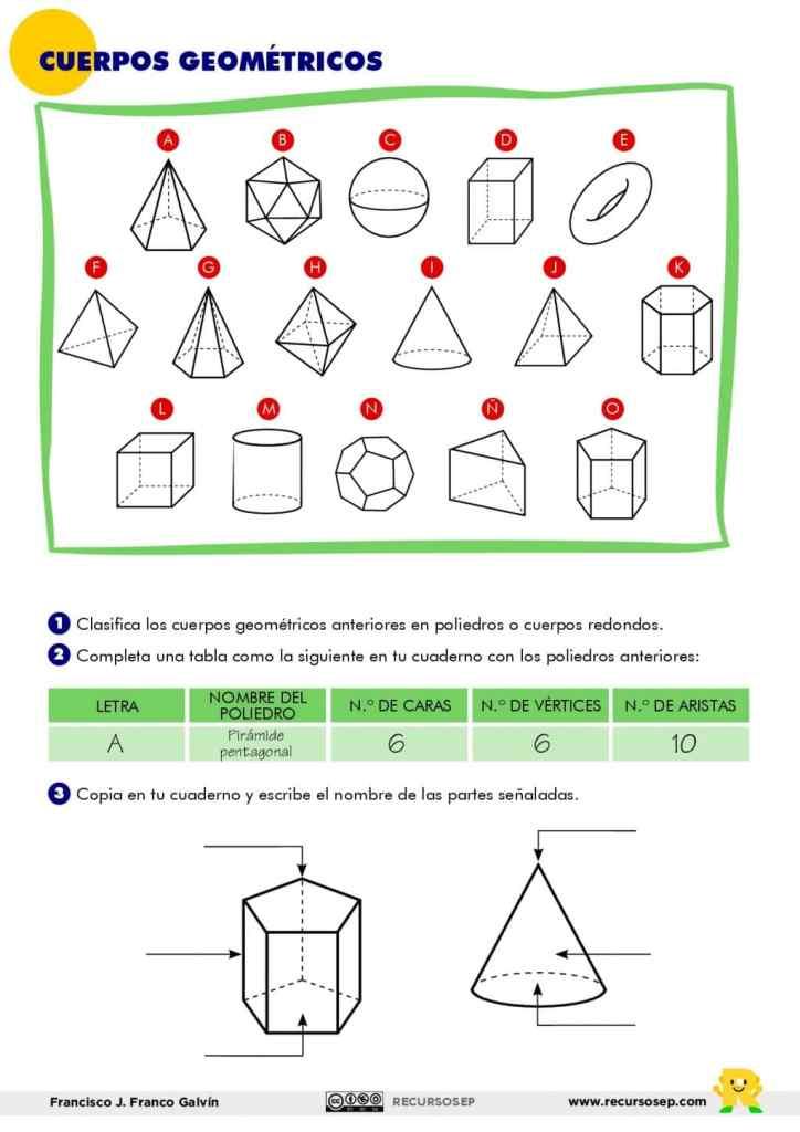 Cuerpos Geométricos 3er Ciclo De Primaria