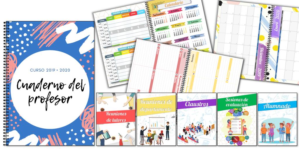 Calendario Anual 2020 Para Imprimir Gratis.Cuaderno Del Profesor Agenda 2019 2020 Supercompleto Y
