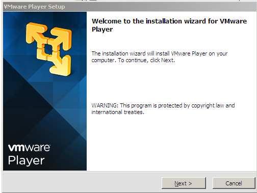 Instalacion vmware player. Inicio